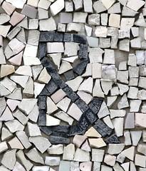 Mosaic Ampersand (Syracuse, NY) (takomabibelot) Tags: newyork geotagged mosaic syracuse ampersand syracuseuniversity benshahn gabrielloire geo:lon=7613399863 geo:lat=4303816385 thepassionofsaccoandvanzetti huntingtonbeardcrousehall