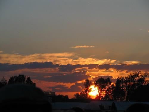 Sunset over Hop Farm