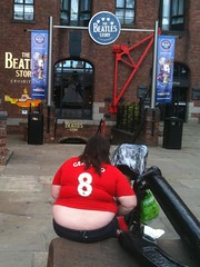 One fat lady: number 8! (Richard Carter) Tags: cameraphone uk liverpool candid soccer beatles fatpeople merseyside