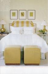 bedyellow (mscott218) Tags: house beautiful bench design bedroom interiors interior stripes walls interiordesign housebeautiful