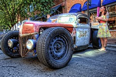 Rat Truck at the Heavy Rebel Weekender (Carolinadoug) Tags: truck nc nikon rat northcarolina pickup pickuptruck hotrod hdr winstonsalem topaz ratrod hrw photomatix kustomkulture heavyrebelweekender dougjohnson d700 topazadjust hdrcreativeshots