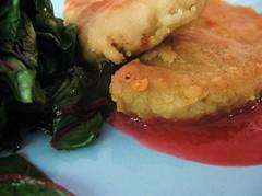 Pomegranate Rhubarb Sauce