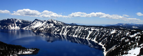 Crater Lake facing South