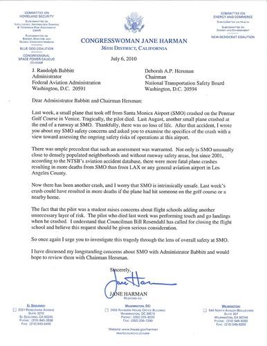 Babbitt Harmon letter July 6 2010