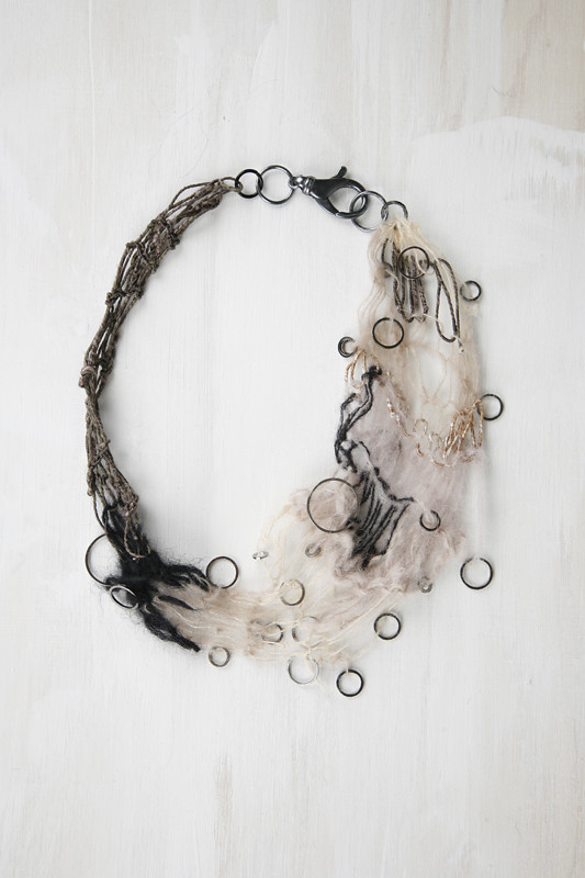 Knitted mohair necklace by shadowplay 2