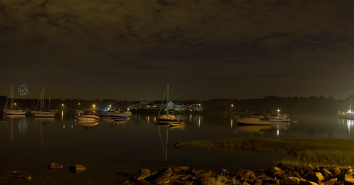 Bristol Harbor at Night