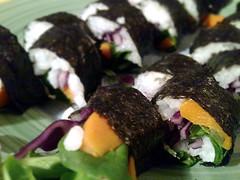 Maki rolls vegan