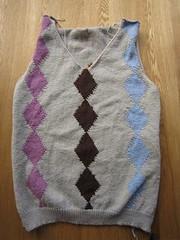Argyle jumper - in progress