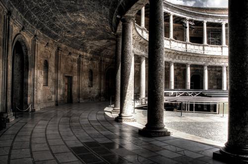 Carlos V palace. Alhambra. Palacio de Carlos V