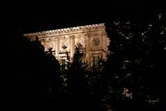 Der Palacio Carlos V. in der Alhambra bei Nacht, Andalusien