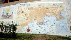 Regionenkarte auf Fliesen in Águilas, Murcia