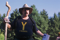 pennsylvania national rainbow gathering, jul '10 (9 of 14) (cavale) Tags: camping trees party film hat festival hippies rainbowgathering america forest canon rainbow woods y kodak pennsylvania tshirt nationalforest celebration american fourthofjuly mustache canonae1 yeast familyreunion nationals rainbowfamily elitechrome100 alleghenynationalforest maincircle hippiesinthewoods