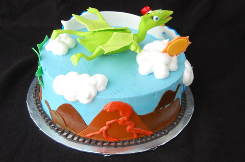 Dinosaur Train Birthday Cake - rear