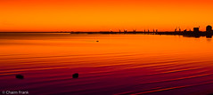 Sunset in Orange (jetrated) Tags: ocean sea sun haven sol beach silhouette strand port landscape puerto boat lowlight paisaje fisher puesta zon bodiesofwater oranje landschap sundownsunset allrightsreservedcopyrightchaimfrank