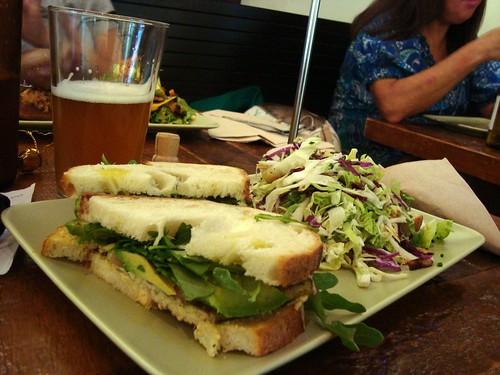 Jerk Tempeh Sandwich & Miso Tofu Salad