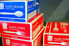 Cutlery (Steve Snodgrass) Tags: food restaurant fork spoon plastic service