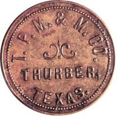 Thurber Texas Exploder Token obverse