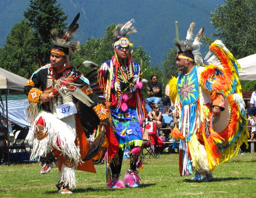 Squamish Nation Pow Wow 2010 Native Dance in Capilano Indian Reserve Park, Grand Entry Dance
