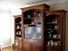 "Home Theater (Jackson NJ) -  50"" LCD, equipment in cabinet, surround system & custom remote"