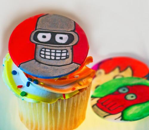 Bender (the robot) Cupcake