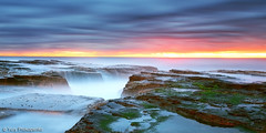 Early Morning Colours (-yury-) Tags: ocean longexposure morning sea sky seascape water sunrise landscape rocks north sydney australia nsw narrabeen
