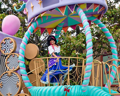 Easter Esmerelda (Peter E. Lee) Tags: japan easter disney parade jp chiba float esmerelda toontown 2010 hunchbackofnotredame tdr tokyodisneyresort tokyodisneylandresort facecharacter tokyodisneylandpark disneyphotochallenge disneyphotochallengewinner tdlr easterwonderlandparade