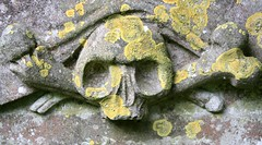 By The Pricking Of My Thumbs (richardr) Tags: old uk greatbritain england sculpture english heritage history grave graveyard rural geotagged skull europe european unitedkingdom britain decay headstone tomb tombstone carving historic gravestone mementomori british lichen churchyard macabre stmary oxfordshire europeanunion decayed decaying saintmary buscot geo:lat=5168154 geo:lon=1673336