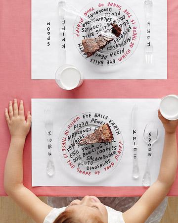 Kids placemat