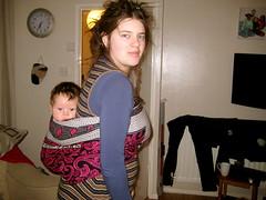 Kitenge baby wearing (arliaflower) Tags: babywearing kanga backcarry leso kitenge babycarrying africawrap