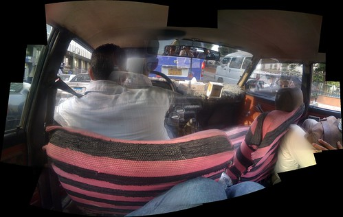 In the back of a Cairo Taxi
