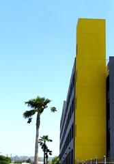 Grosvenor Blvd, Los Angeles (Gabriel Gets) Tags: california building yellow america la losangeles modernart palmtree carpark multistory 5353grosvenorblvd