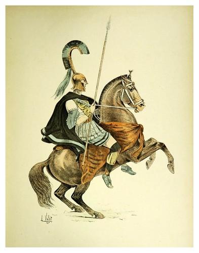 003-Caballero griego hacia el 850 A.C-Le chic à cheval histoire pittoresque de l'équitation 1891- Louis Vallet