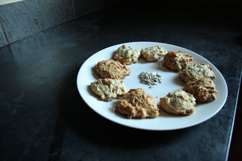 Sunflower banana cookies.