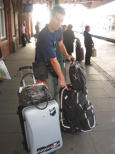 Luggage at the train station
