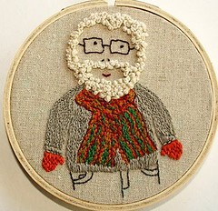 mr magillicutty (cath @ chunkychooky) Tags: old embroidery stitchy frenchknot hipbotunsquare