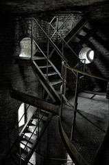 HC (Farlakes) Tags: rot abandoned industry stairs rust stair industrial belgium decay coal coalmine hasard cheratte farlakes