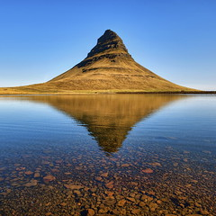 Mountain Reflection (aevarg) Tags: mountain iceland kirkjufell hdr sland snfellsnes grundarfjrur fjall digitalblending flickrdiamond nikond700 1424mmf28g varg 3exphdrdri aevarg vargumundsson afnikkor1424mmf28