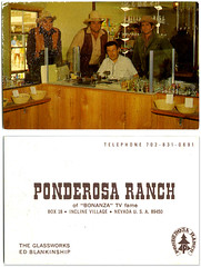 Ponderosa Ranch_tatteredandlost (T and L basement) Tags: ephemera tvshow bonanza hosscartwright littlejoecartwright ponderosaranch bencartwright vintagebusinesscard