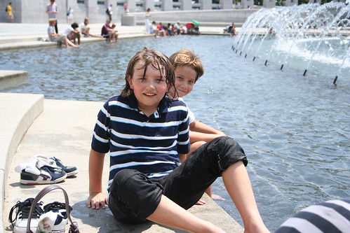 7/16/10 - Cooling off at the WWII Memorial