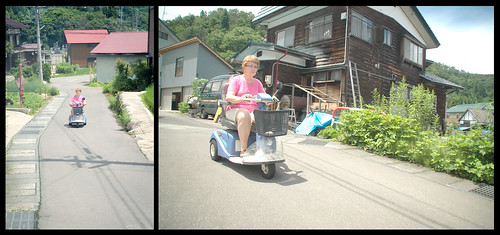 Grandma on an Old People Scooter