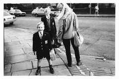 Schoolboys (Mary Hutchison) Tags: street family school boy portrait people urban blackandwhite history smile 35mm scotland community edinburgh documentary 1980s mhs sociology schoolboys socialhistory