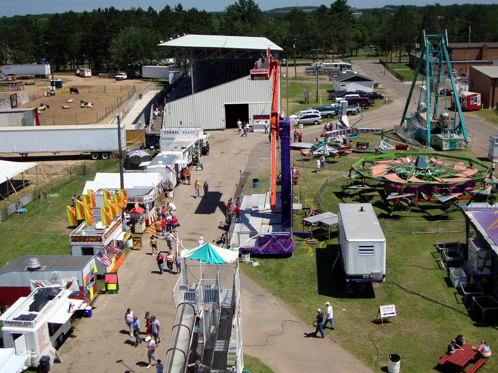 Aerial View Of The 2010 Lincoln County 4-H Fair From The Top Of The Eli Ferris Wheel.