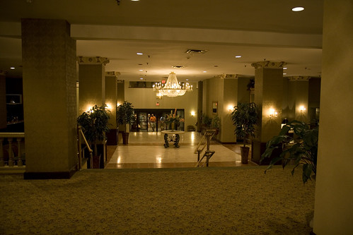 The lobby of the Eastland Park Hotel.