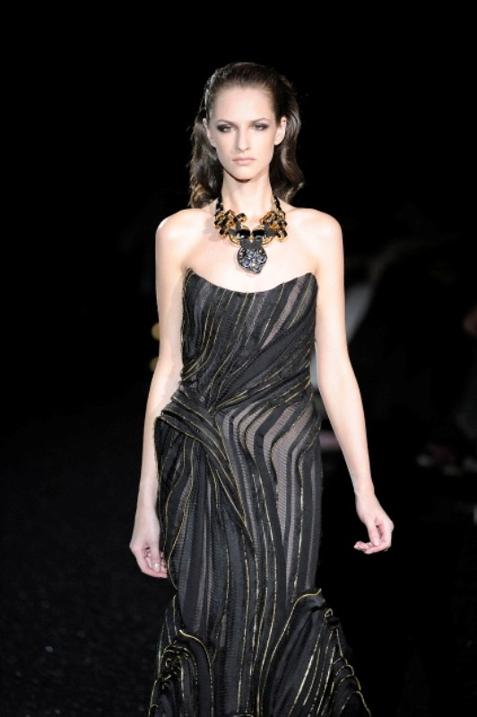 Basil Soda FW2010 collection zipper evening gown dress 02