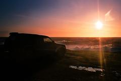 (Gilligan_1) Tags: ireland sunset sea toyota sunflare hookhead hiluxsurf