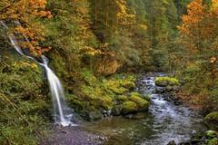 0007 Steep Creek Falls At Rock Creek (vincentlouis) Tags: green fall water rock creek forest washington moss pebbles falls stevenson hdr steep firs