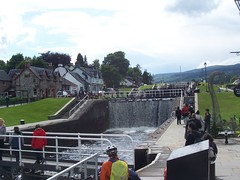 Fort Augustus Locks, Caledonian Canal, Fort Augustus, July 2010 (allanmaciver) Tags: locks water caledonian canal people tourist visitors fort augustus thomas telford historic engineer lochaber loch ness