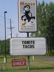 Taco night at the Moose Lodge