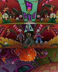 Nicktoons: Globs of Doom - Mayhem at Zim's House (hinxlinx) Tags: alien art boss cartoon character doom garden gir globs gnomes goo gooey incinerator invader irken morphoids nickelodeon nicktoons orange parents plunger progression robot spongebob squarepants studios tentacles toon zim