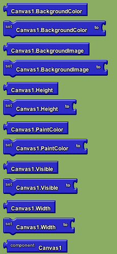 Google app inventor - canvas blocks 2